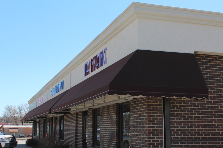 Our Awnings Are All Aluminum Constructed And Can Be Manufactured In A Wide Variety Of Styles They Backlit Front Lit Or Non Illuminated With